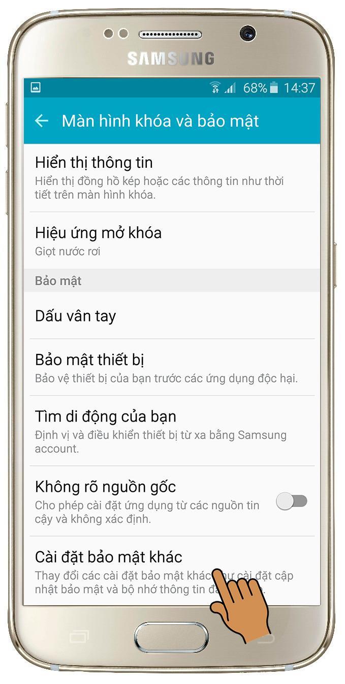 Samsung Galaxy S6에서 화면 고정 모드 활성화