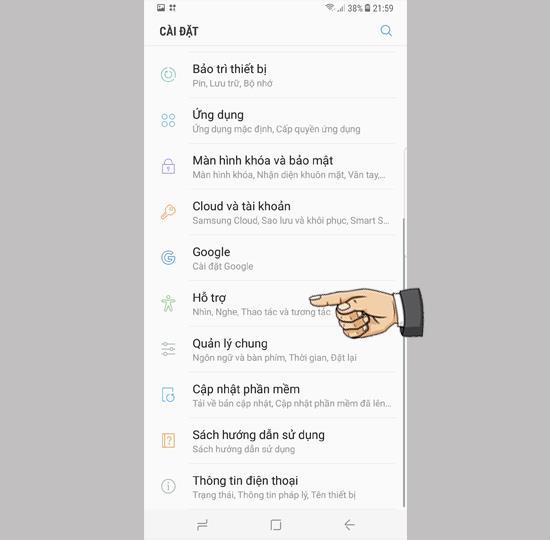 Instrukcje włączania wirtualnego klucza domowego w Samsung Galaxy S8 Plus