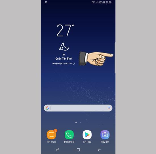 استخدام شاشة الحافة على Samsung Galaxy S8 Plus
