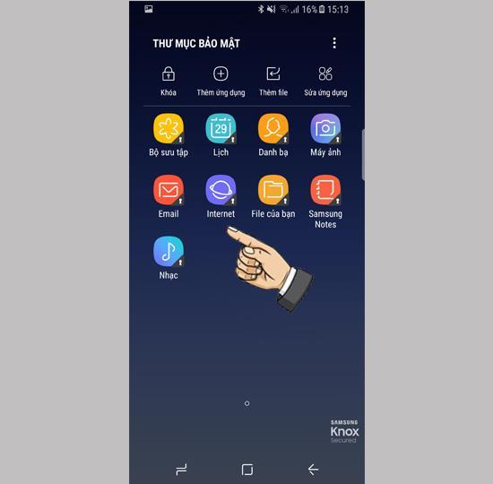 Use a pasta segura no Samsung Galaxy S8