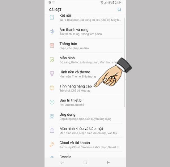 Deslize para tirar uma captura de tela no Samsung Galaxy S8 Plus