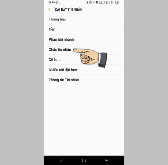 How to block messages on Samsung Galaxy S8