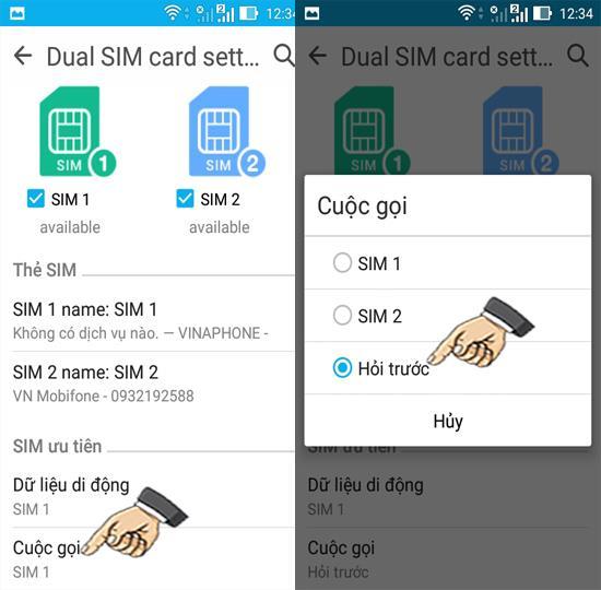 Configurarea modului dual SIM pe Asus Zenfone Go ZB500KG