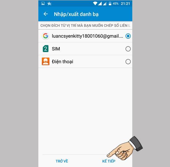 Importați contacte de pe SIM pe Mobiistar Prime X1