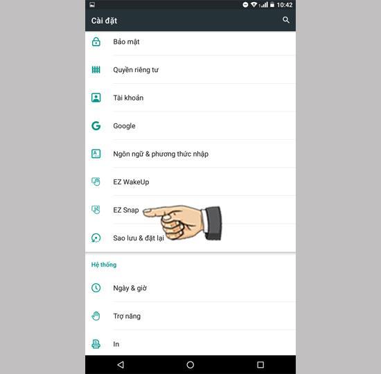 Faceți capturi de ecran cu 3 degete pe Acer Iconia Talk 7 B1-733
