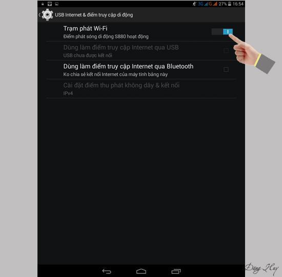 Jucați wifi pe tableta Wing S880