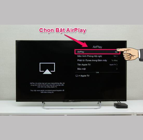 AirPlayを介してiPhoneからTVに画面をキャストする