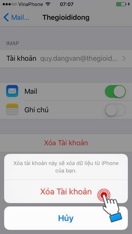 iPhoneでメールの送受信を設定する