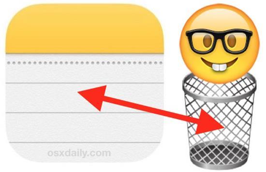 iOSで削除されたメモを復元する手順