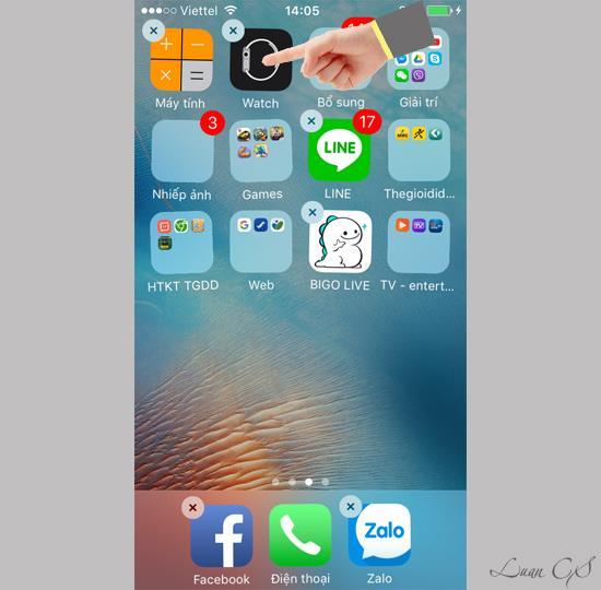 Nyahpasang aplikasi lalai pada iOS 10 beta