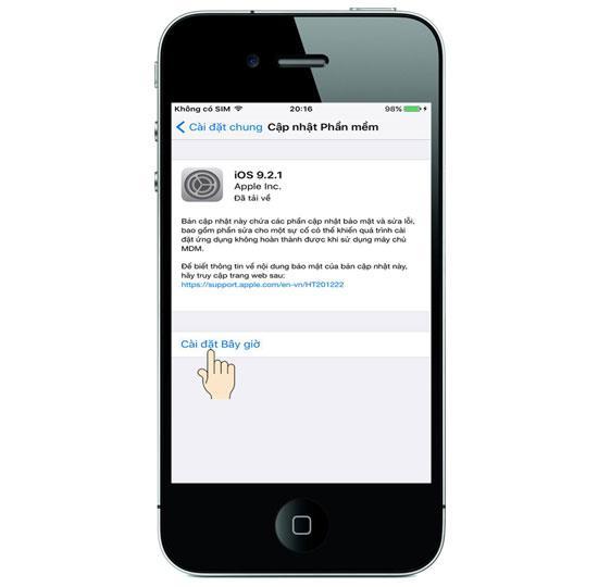 Kemas kini (kemas kini) perisian baru pada iPhone 4S
