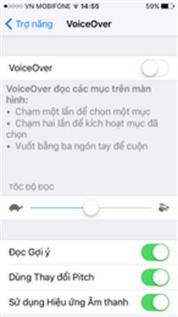Instructions to turn off VoiceOver on iOS (visually impaired mode)
