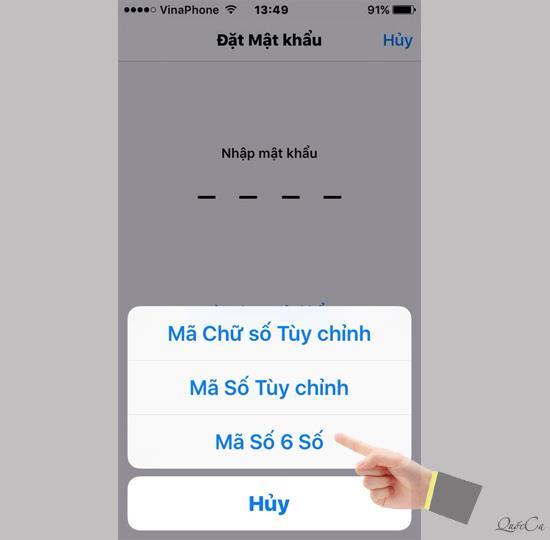 iOS9以降のデバイス用の6桁のiPhoneパスワード