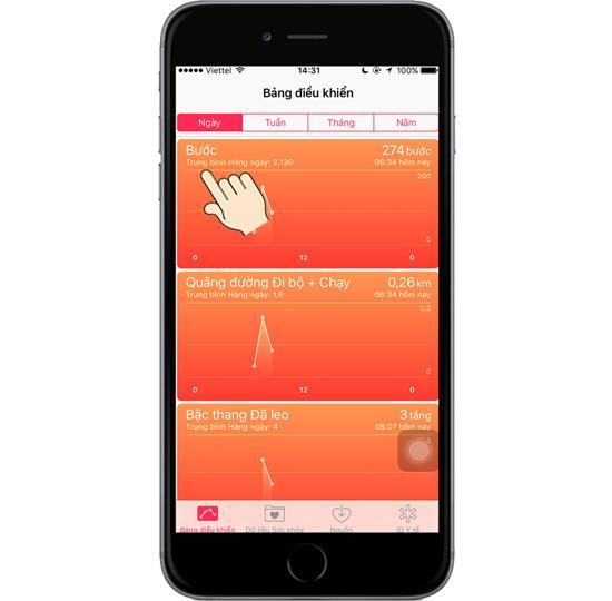 Monitoramento de saúde no iPhone 6s