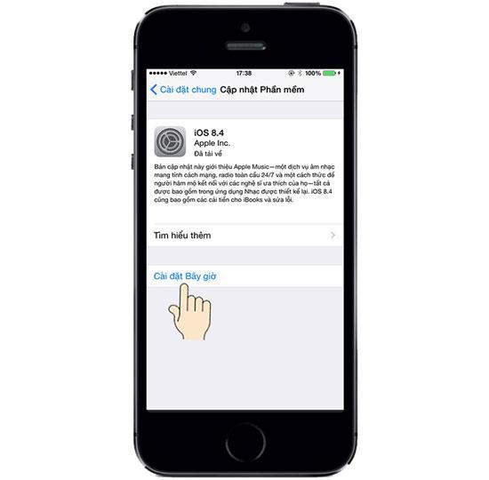 อัปเดต (อัปเดต) ซอฟต์แวร์ใหม่บน iPhone 5S