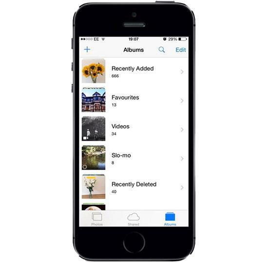 از آلبوم های هوشمند در iPhone 5S استفاده کنید