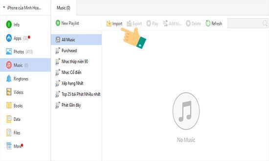 3uTools का उपयोग करके कंप्यूटर से iPhone पर संगीत की प्रतिलिपि बनाएँ
