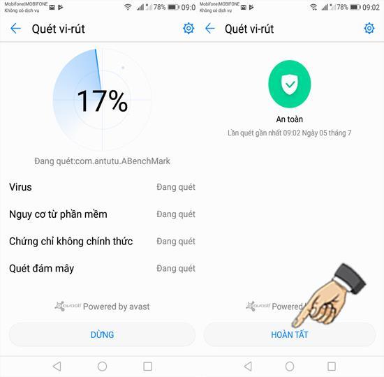 Scanați virusul pe Huawei Y7 Prime