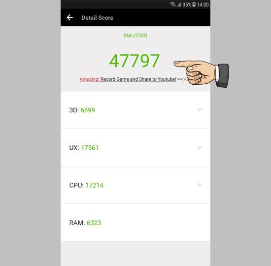 Wynik Antutu na Samsung Galaxy J7 Pro