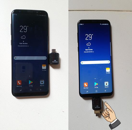 Samsung Galaxy S8 Plus에서 OTG 연결