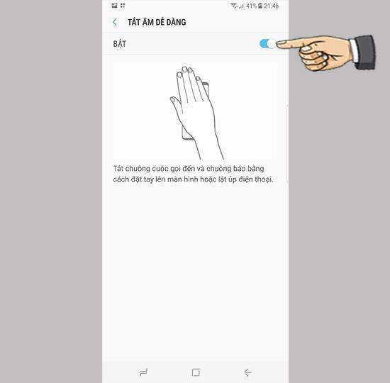 Desactivar el timbre de llamada rápida en Samsung Galaxy S8 Plus