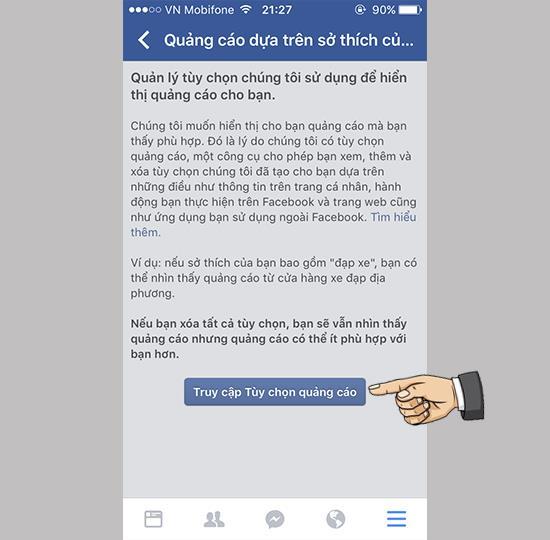 IPhone पर फेसबुक विज्ञापन प्रबंधित करें